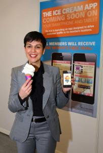 Zelica Carr with ice cream app
