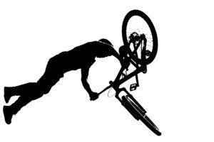 Black and white bike image